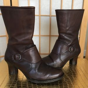 Born Brown Leather Mid Ankle Boot SZ 7